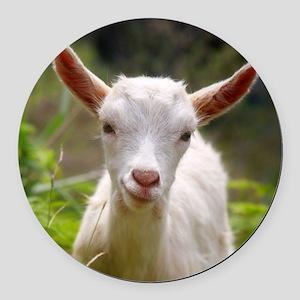 Baby goat Round Car Magnet