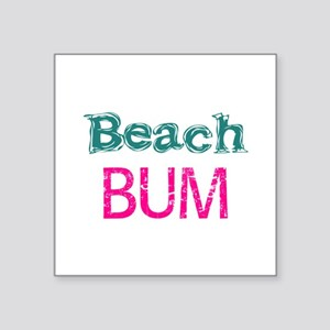 Beach Bum (pink) Sticker