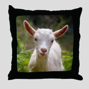Baby goat Throw Pillow