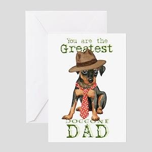 Min Pin Dad Greeting Card