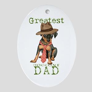Min Pin Dad Ornament (Oval)