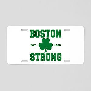 Boston Strong Aluminum License Plate