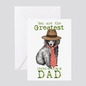 Miniature Poodle Dad Greeting Card