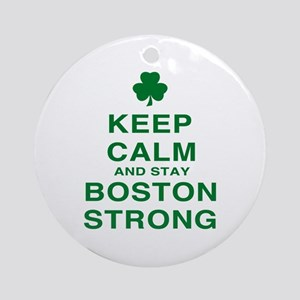 Keep Calm and Boston Strong Ornament (Round)