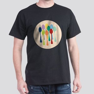 Pop Art Spoons Dark T-Shirt