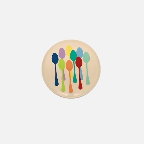 Pop Art Spoons Mini Button