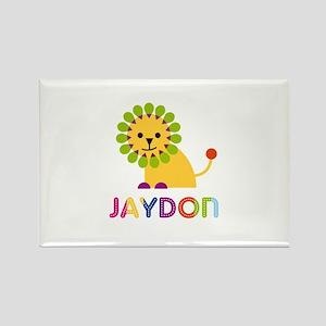 Jaydon Loves Lions Rectangle Magnet