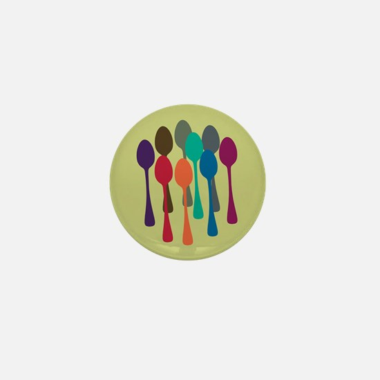 Pop Art Spoons Mini Button