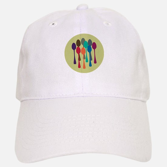 Pop Art Spoons Baseball Baseball Cap