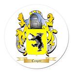 Casper Round Car Magnet