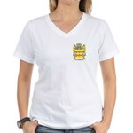 Casoni Women's V-Neck T-Shirt
