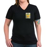 Cason Women's V-Neck Dark T-Shirt