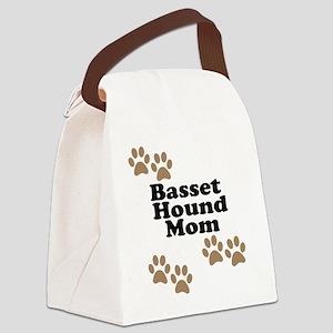 Basset Hound Mom Canvas Lunch Bag