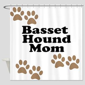 Basset Hound Mom Shower Curtain