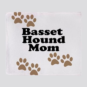 Basset Hound Mom Throw Blanket