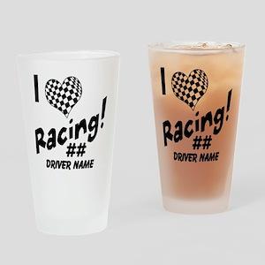 Custom Racing Drinking Glass