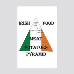 Irish Food Pyramid Mini Poster Print