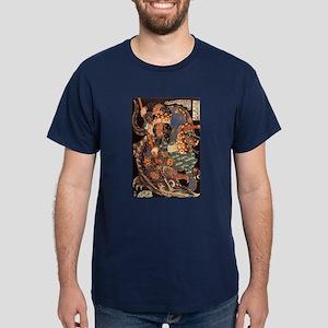 Miyamoto Musashi Fights Nue Blue T-Shirt