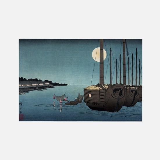 Fukeiga 3 - Hiroshige Ando - 1858 - woodcut Magnet