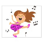Happy dancing girl in hot pink Poster Design