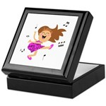 Happy dancing girl in hot pink Keepsake Box