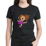 Happy dancing girl in hot pink T-Shirt