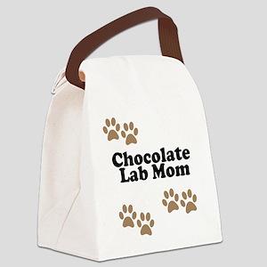 Chocolate Lab Mom Canvas Lunch Bag