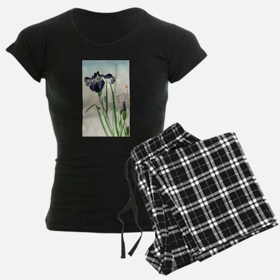 Irises - anon - 1900 - woodcut Pajamas