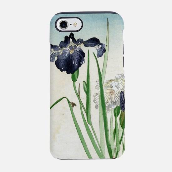 Irises - anon - 1900 - woodcut iPhone 7 Tough Case
