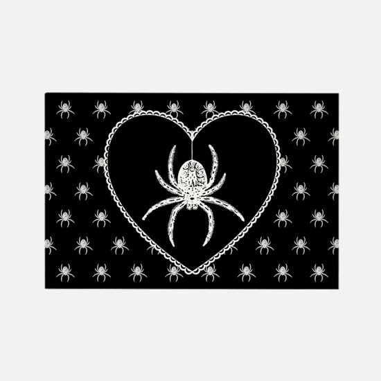 Gothic Spider Heart Rectangle Magnet