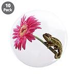 Chameleon Lizard on pink flower 3.5