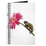 Chameleon Lizard on pink flower Journal