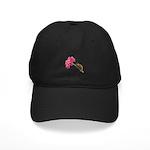 Chameleon Lizard on pink flower Baseball Cap