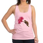 Chameleon Lizard on pink flower Racerback Tank Top