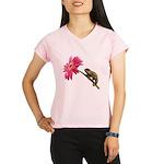Chameleon Lizard on pink flower Peformance Dry T-S