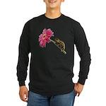 Chameleon Lizard on pink flower Long Sleeve T-Shir