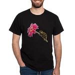 Chameleon Lizard on pink flower T-Shirt
