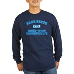 Blue State Right-Wing Long Slv Dark T-Shirt