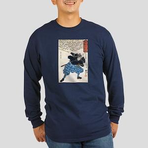 Miyamoto Musashi Two Swords Long Sleeve Blue Tee