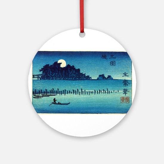 Fukeiga 8 - Hiroshige Ando - 1858 - woodcut Round