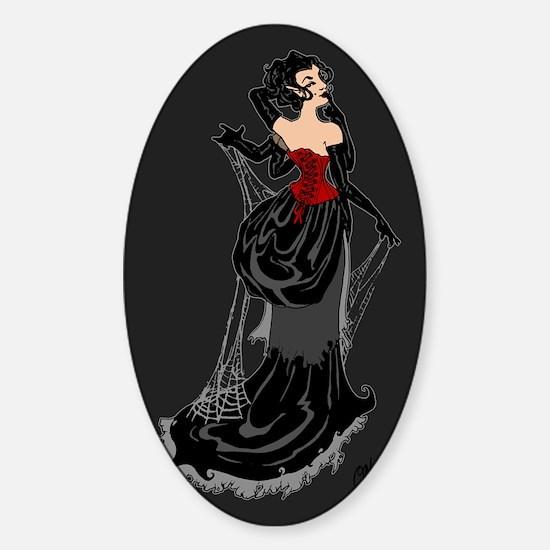 Black Widow Fairy Sticker (Oval)