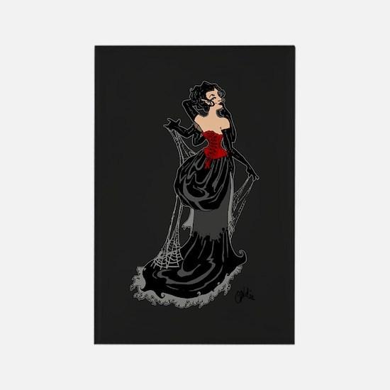 Black Widow Fairy Rectangle Magnet