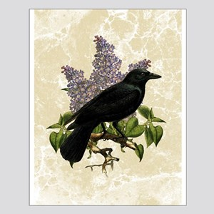 Lilacs And Crow Small Poster