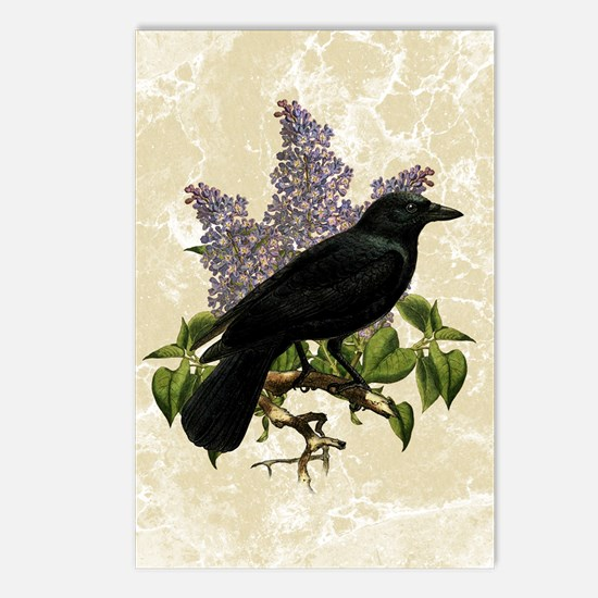 Lilacs And Crow Postcards (Package of 8)