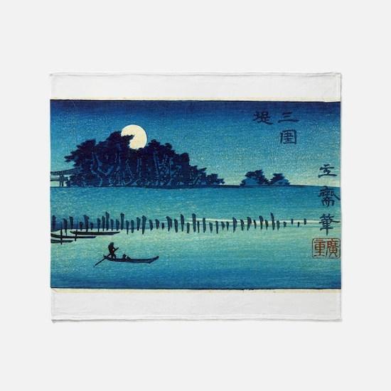 Fukeiga 8 - Hiroshige Ando - 1858 - woodcut Throw