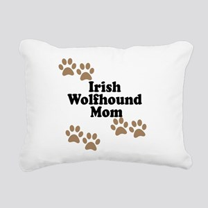 Irish Wolfhound Mom Rectangular Canvas Pillow