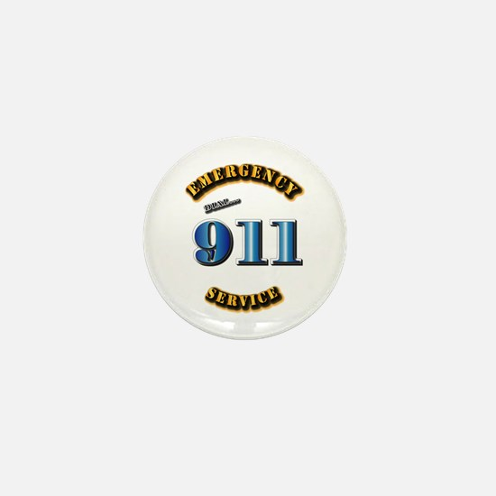 Emergency Service - 911 Mini Button