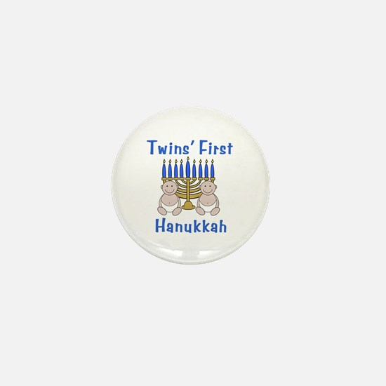 Twins' First Hanukkah Mini Button