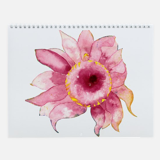 Watercolor Flowers & Giraffes Wall Calendar