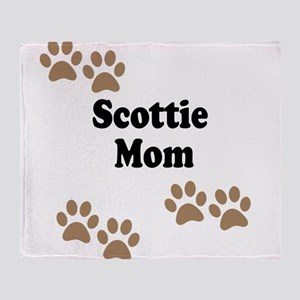 Scottie Mom Throw Blanket